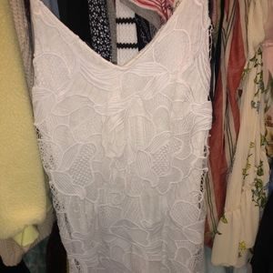 Express White Lace Dress
